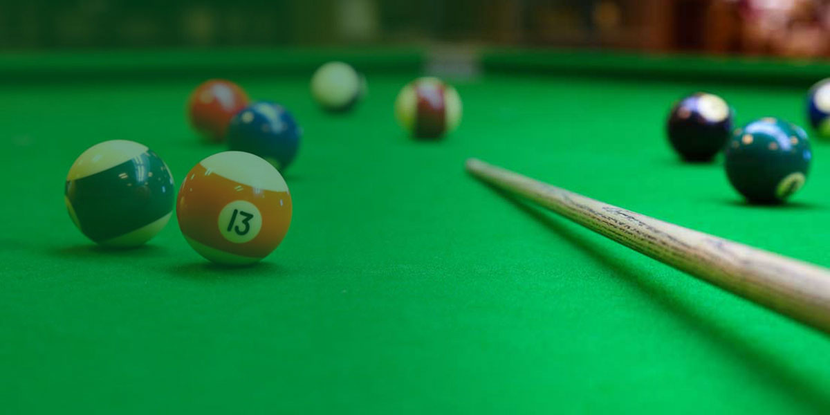 Drop in and relax on our full-sized snooker or pool table.
